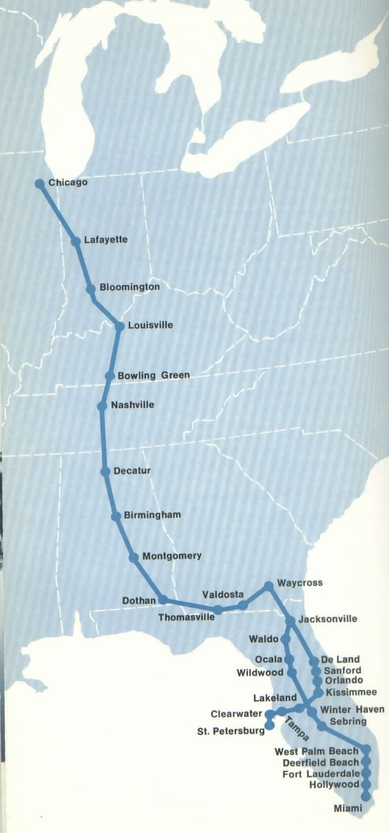 ChicagoFlorida Amtrak Route Trains Magazine Trains News Wire - Chicago amtrak map
