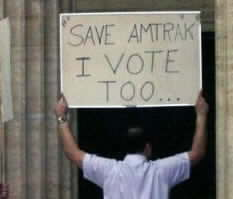 Save Amtrak I  Vote too!