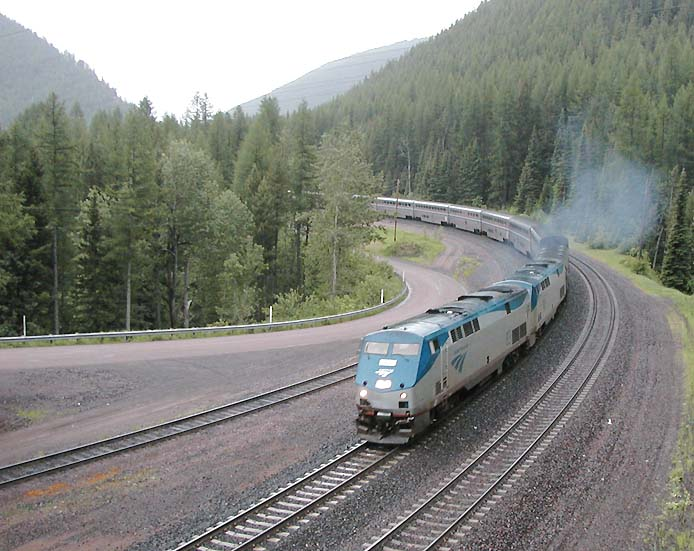Empire Builder At Essex,Montana
